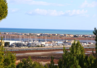 vue aérienne du port de tout pour le bateau